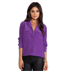 Equipment Femme | Purple Signature Silk Top